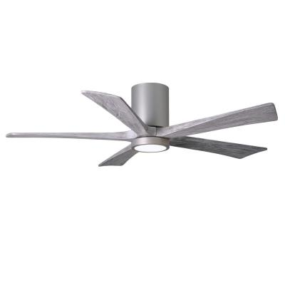 Irene 52 in. LED Indoor/Outdoor Damp Brushed Nickel Ceiling Fan with Light with Remote Control and Wall Control