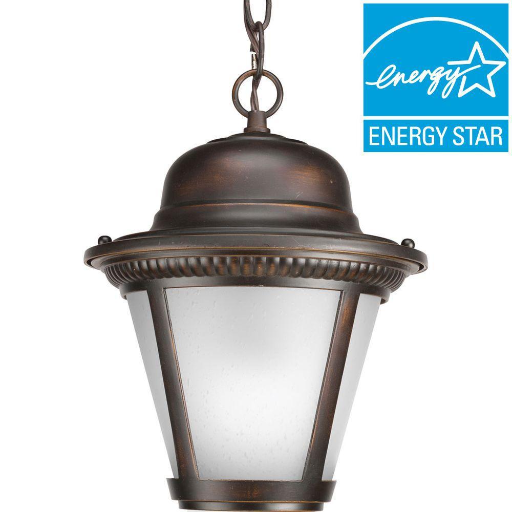 Westport Collection 1 Light Outdoor Antique Bronze Led Hanging Lantern