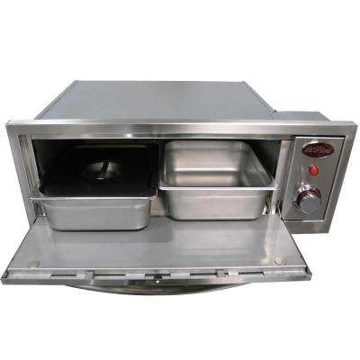 2-in-1 Built-In Stainless Steel Warmer and Pizza Oven