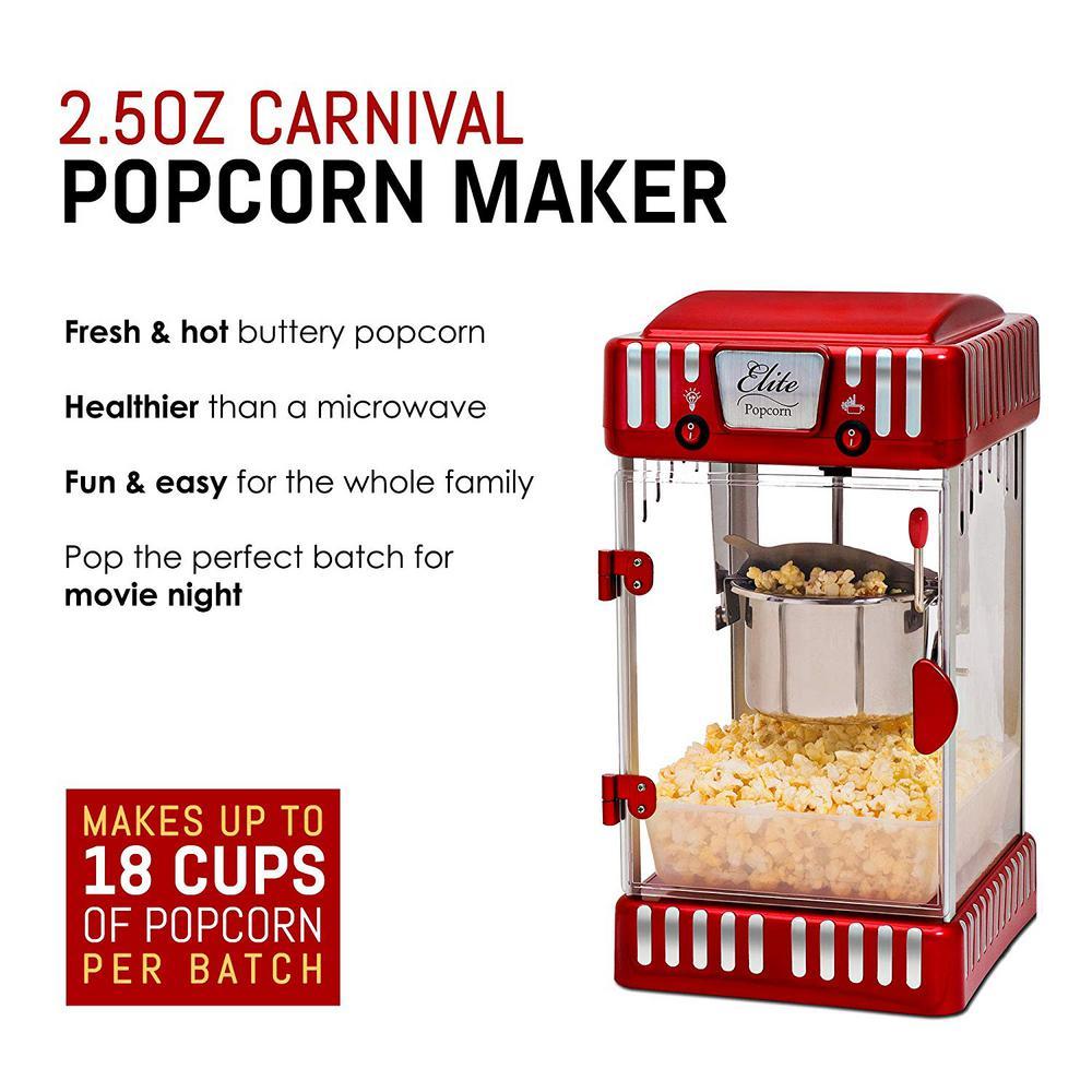 Elite-Tabletop Kettle Popcorn Popper Machine