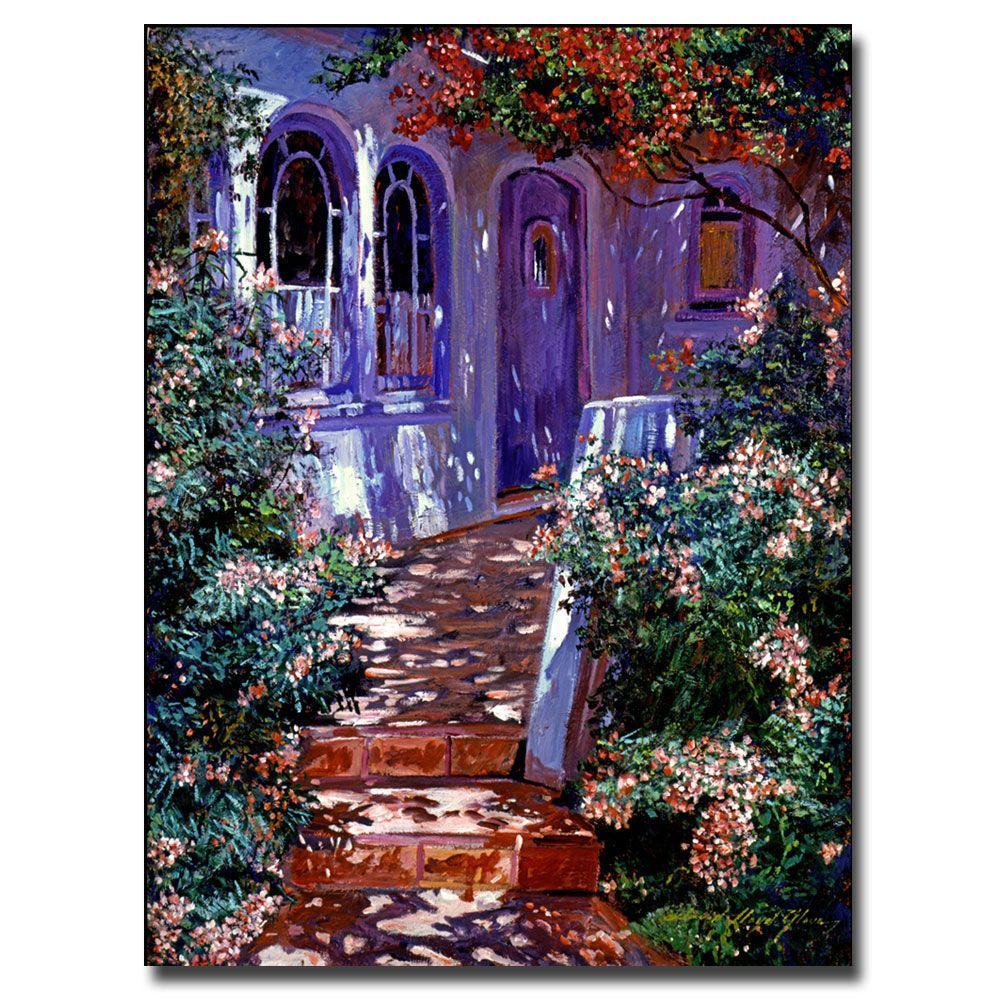 Trademark Fine Art 26 in. x 32 in. Cottage Courtyard Canvas Art