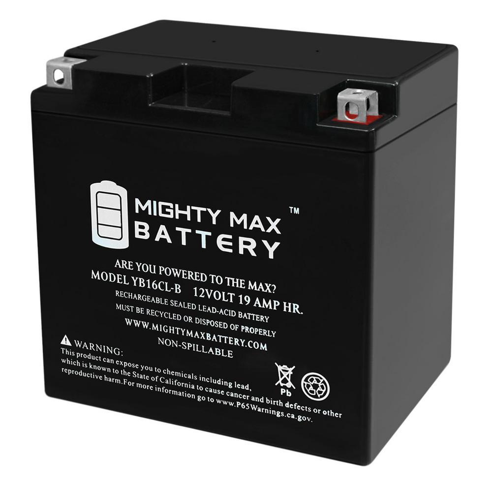 12-Volt 19 Ah 250 CCA High Performance Rechargeable Sealed Lead Acid (SLA) Powersport Battery