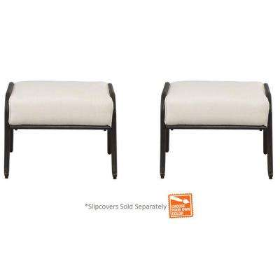 Edington Patio Ottomans with Cushions Included, Choose Your Own Color (2-Pack)