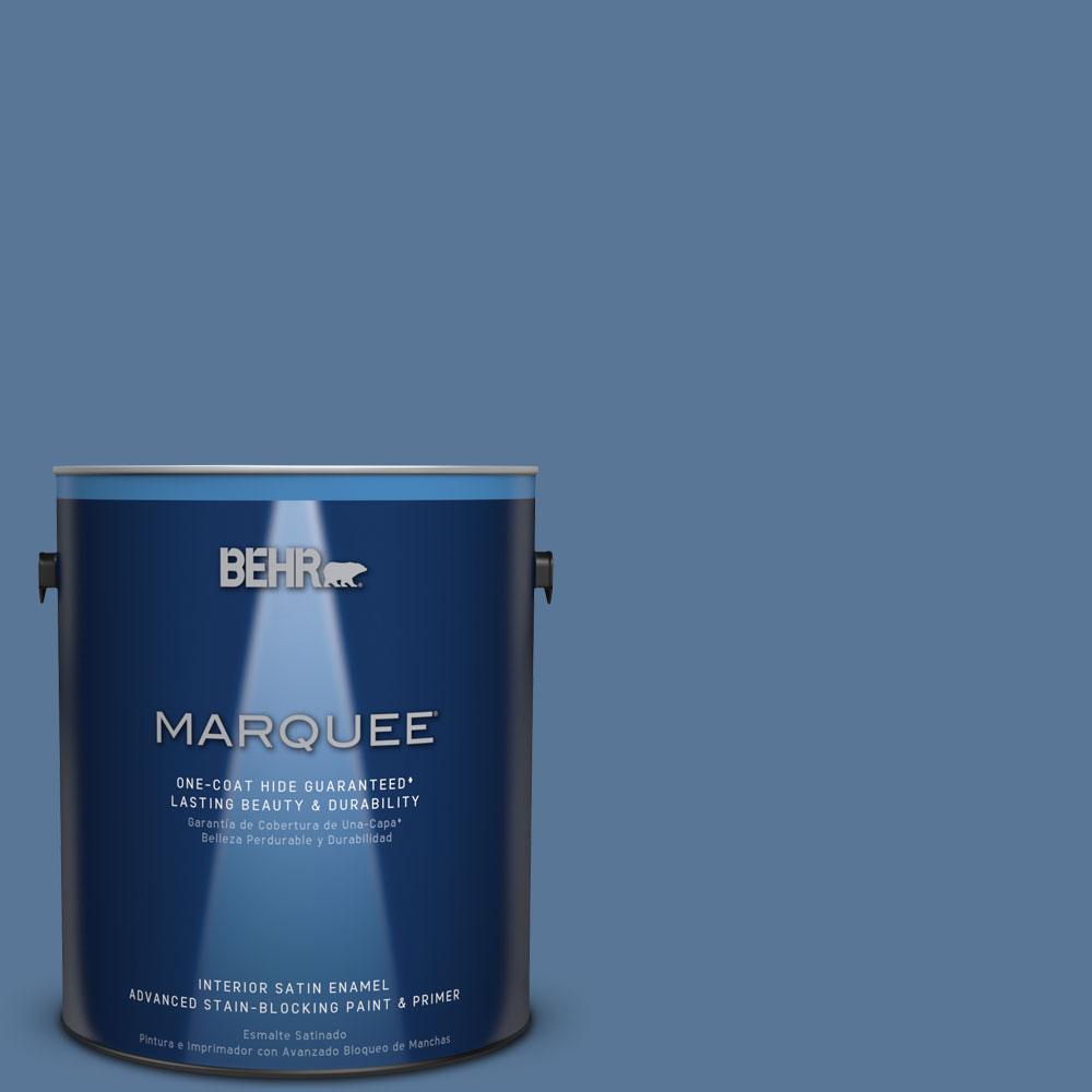 1 gal. #MQ5-53 Privileged Elite One-Coat Hide Satin Enamel Interior Paint