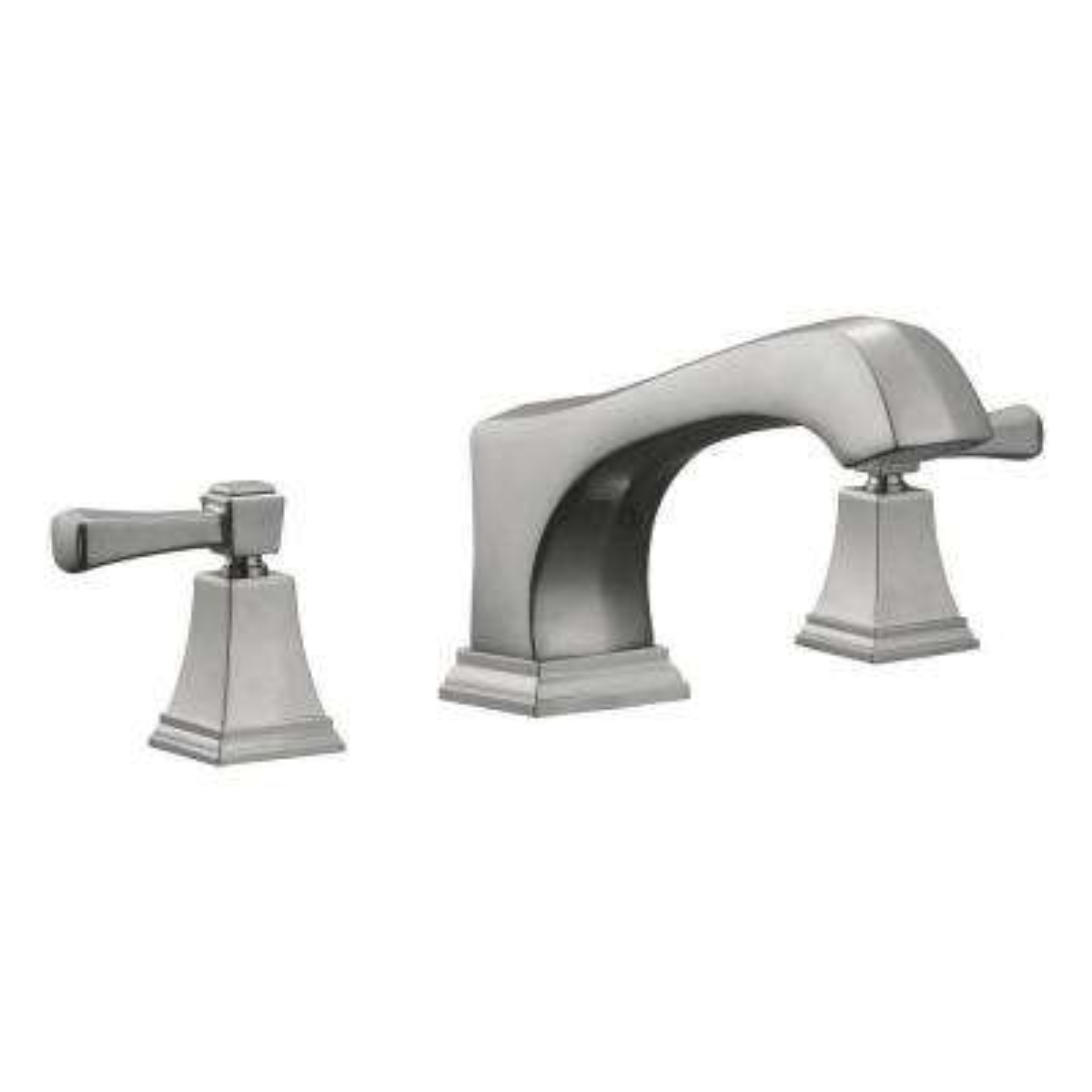 Torino 2-Handle Deck-Mount Roman Tub Faucet in Satin Nickel