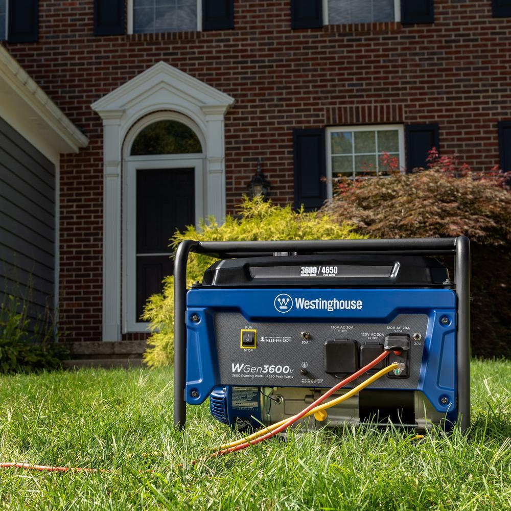 WGen3600V 4,650/3,600 Watt Gasoline Powered RV-Ready Portable Generator with Automatic Low Oil Shutdown