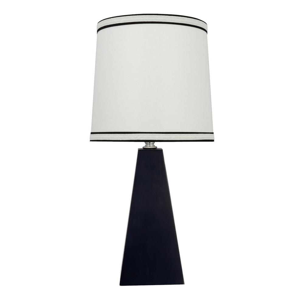Matte Black Wooden Table Lamp With Empire Shaped Shade In Off White