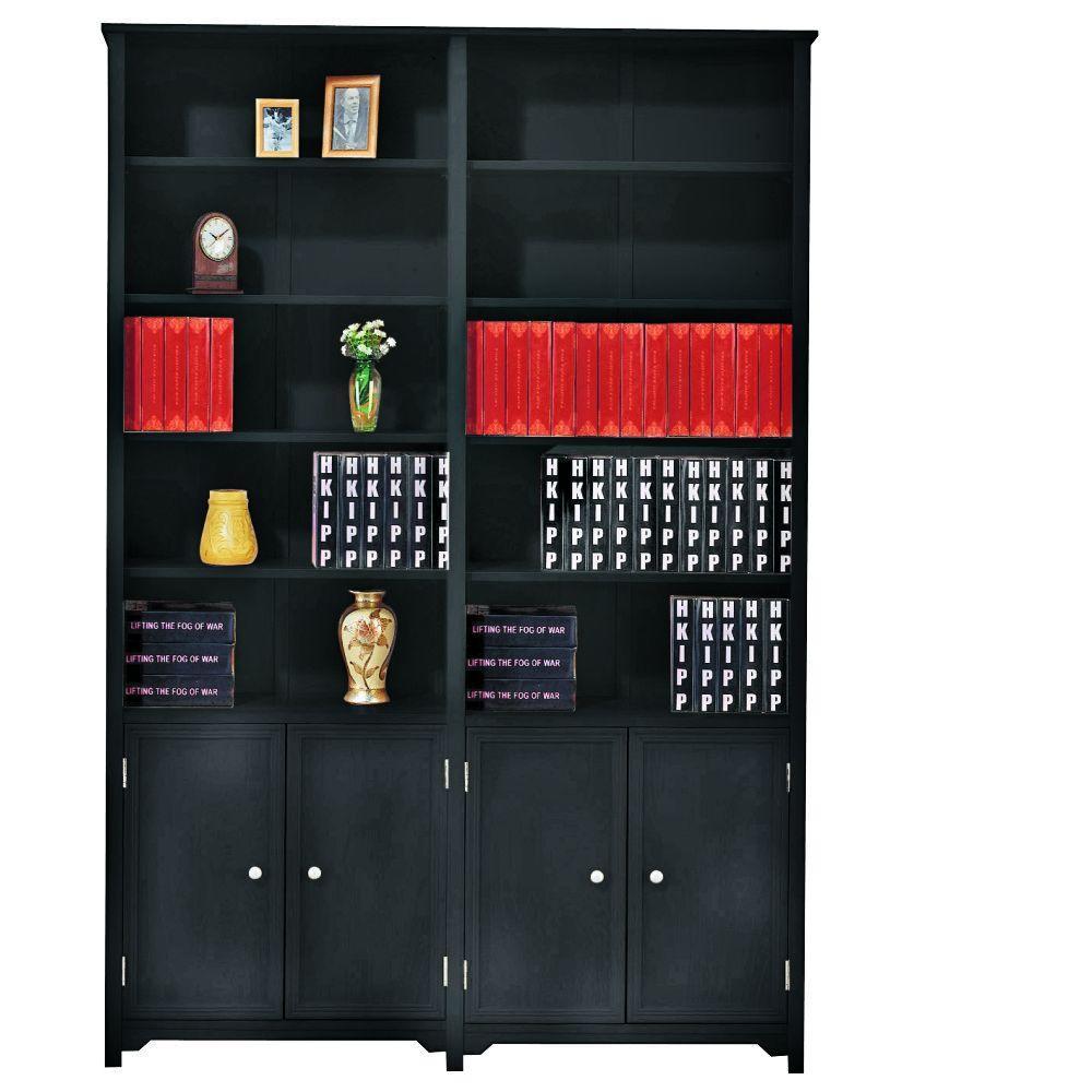 Home Decorators Collection Oxford Black Storage Open Bookcase
