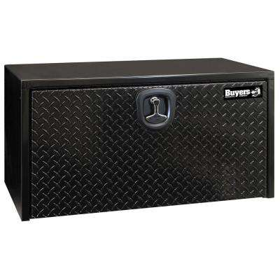 Black Steel Underbody Truck Box with Diamond Tread Aluminum Door, 18 in. x 18 in. x 24 in.