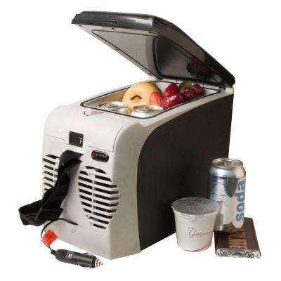 80 CFM 1-Speed 6 Liter Portable Thermo-Electric Fridge/Warmer