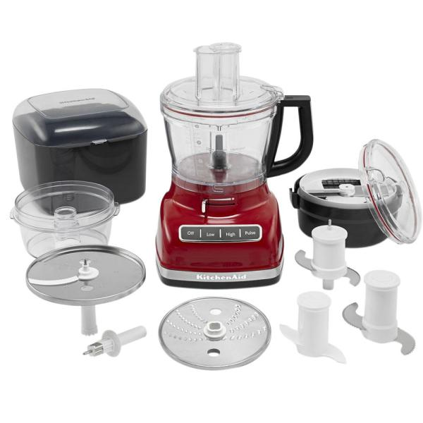 KitchenAid ExactSlice 14-Cup 3-Speed Empire Red Food Processor