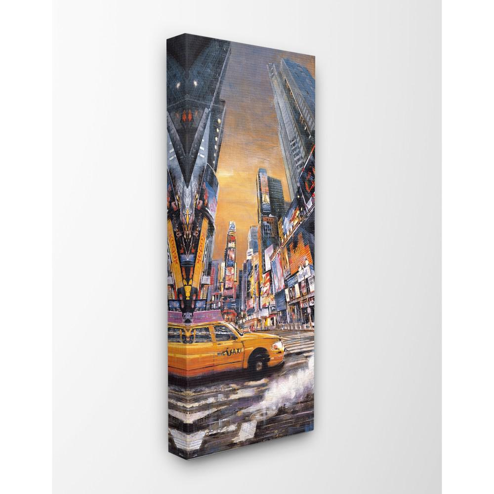 13 In X 30 New York City Times Square Sunset Night Scene Taxiby Artist Matthew Daniels Canvas Wall Art