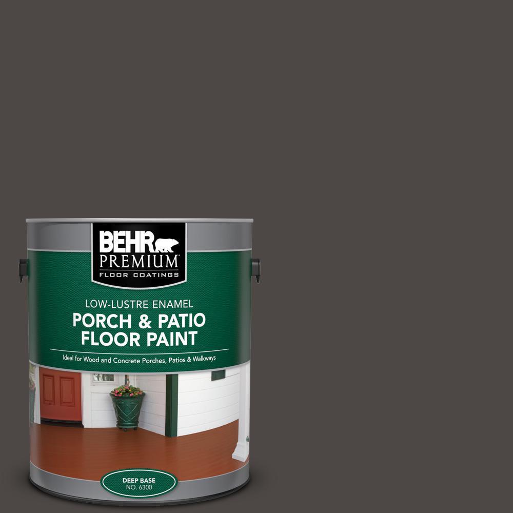 BEHR PREMIUM 1 gal. #N530-7 Private Black Low-Lustre Enamel Interior/Exterior Porch and Patio Floor Paint