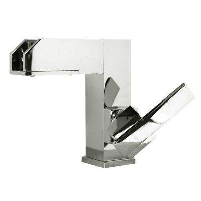 Viynl Series Single Hole 1-Handle Color Change LED Vessel Bathroom Faucet in Chrome