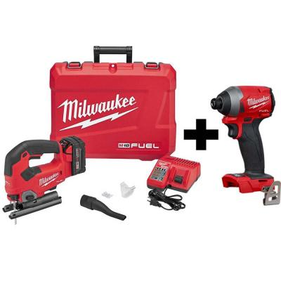 M18 FUEL 18-Volt Lithium-Ion Brushless Cordless Jig Saw Kit with M18 FUEL Impact Driver