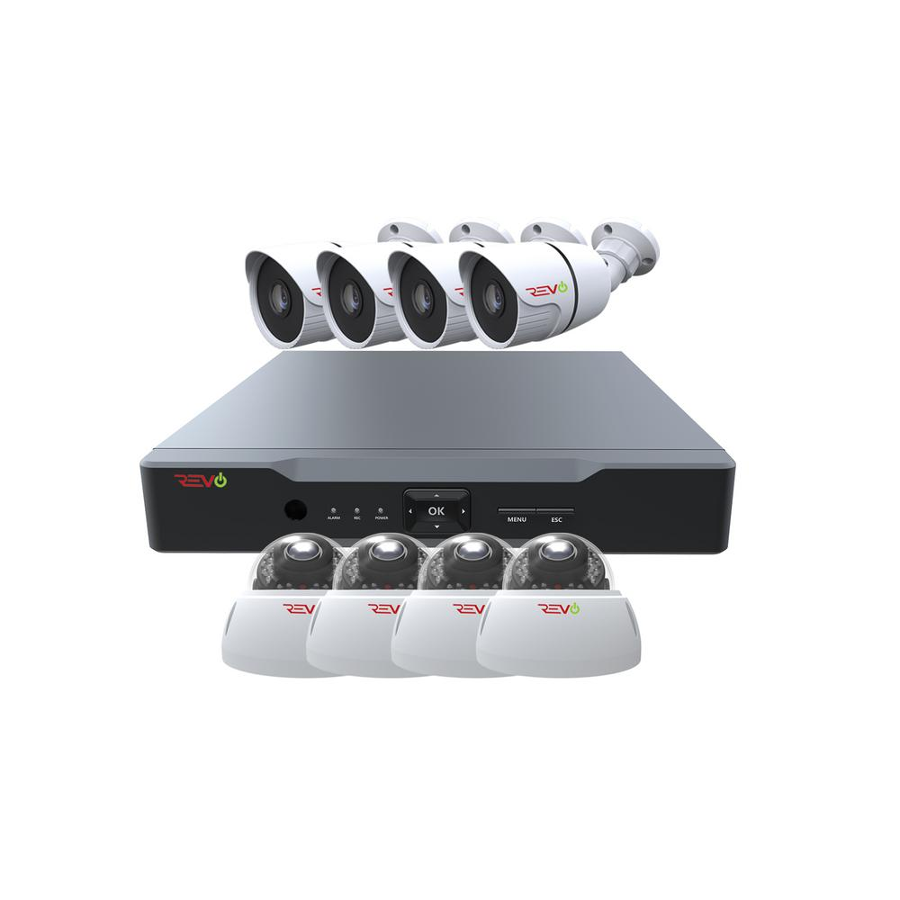 Revo Aero HD 1080p 8-Channel Video Security System with 8 Indoor/Outdoor Cameras