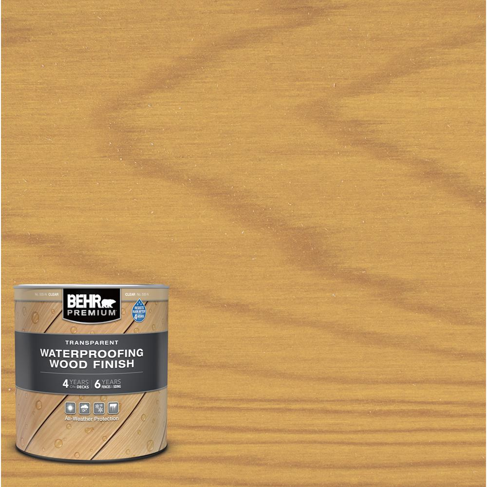 BEHR PREMIUM 1 qt. Clear Transparent Waterproofing Exterior Wood Finish