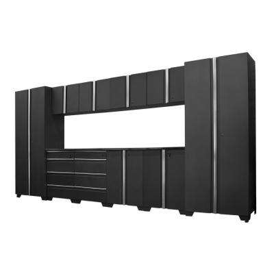 Classic 75 in. H x 156 in. W x 18 in. D Steel Cabinet Set in Coal (12-Piece)