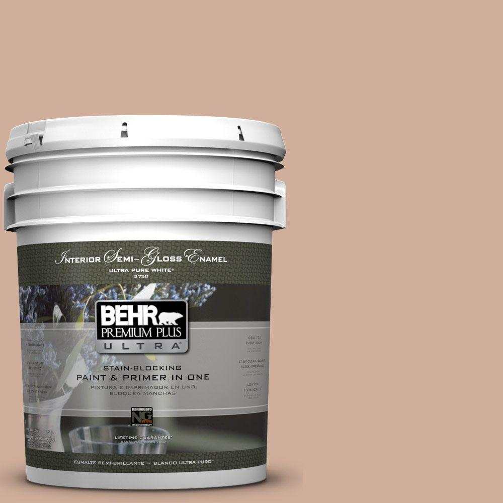BEHR Premium Plus Ultra 5-gal. #S200-3 Iced Copper Semi-Gloss Enamel Interior Paint