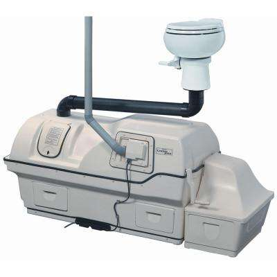 Centrex 3000 Electric Waterless Ultra High Capacity Central Composting Toilet System in White