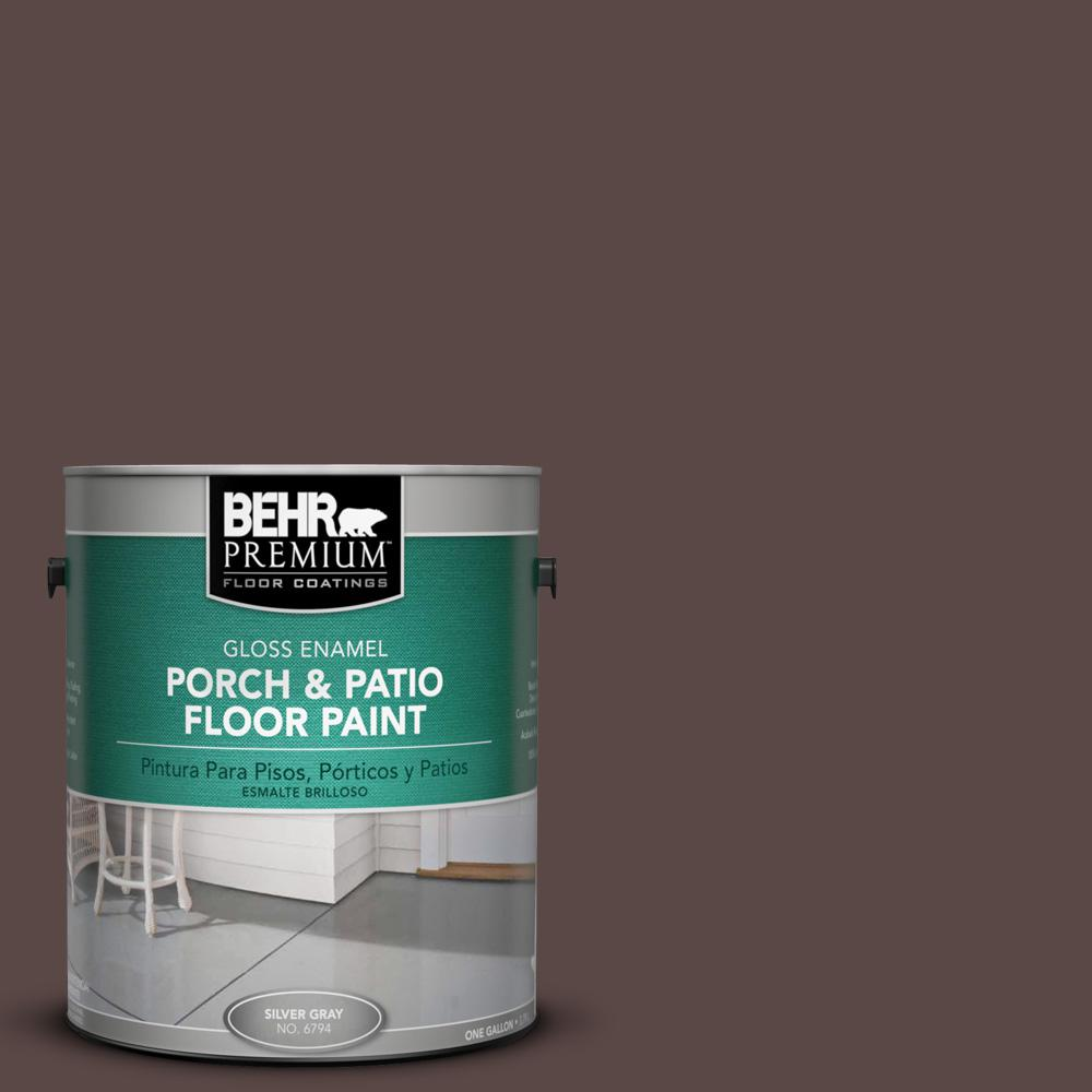 1 gal. #750B-7 Thick Chocolate Gloss Porch and Patio Floor Paint