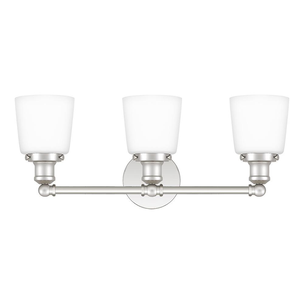 Union 3-Light Polished Nickel Vanity Light