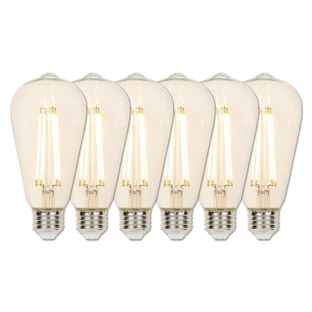 40-Watt Equivalent ST20 Dimmable Filament LED Light Bulb Soft White Light (6-Pack)