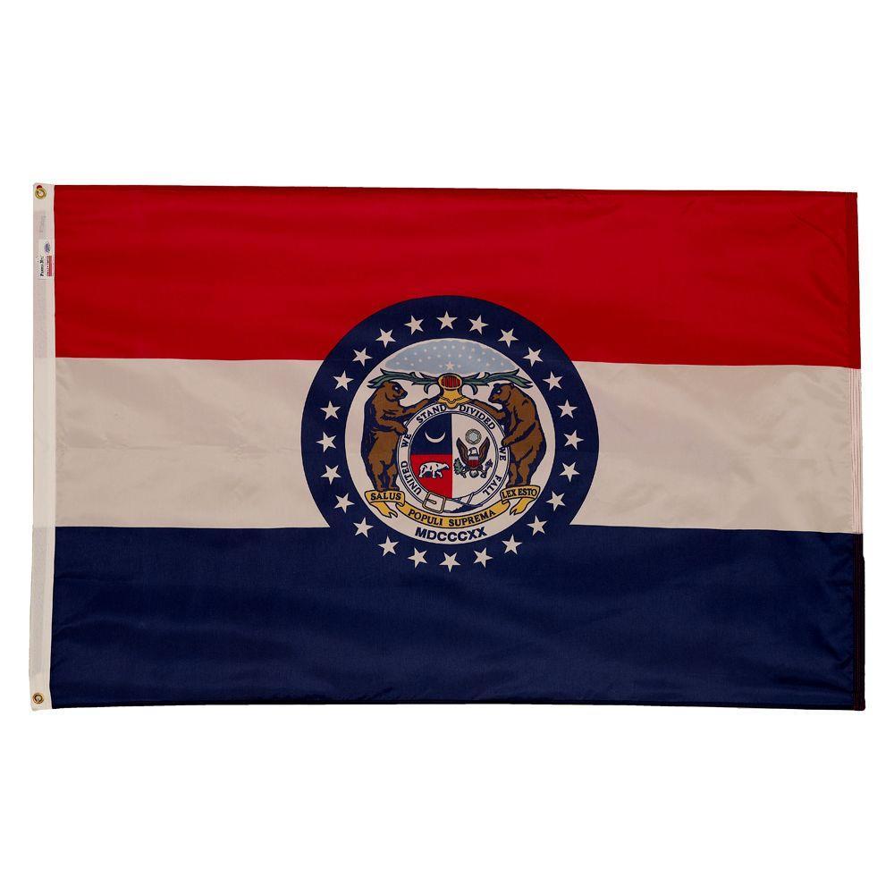 3 ft. x 5 ft. Nylon Missouri State Flag