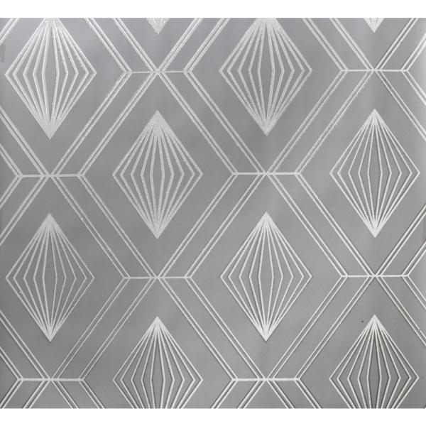 Glitter Diamond Grey Paper Strippable Roll (Covers 56 sq. ft.)