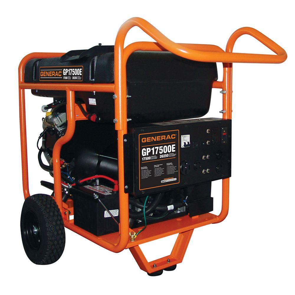 Generac 17,500-Watt Gasoline Powered Electric Start Portable Generator