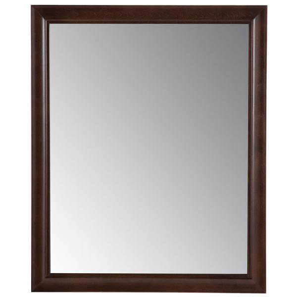 Candlesby 26 in. x 31 in. Framed Wall Mirror in Cognac