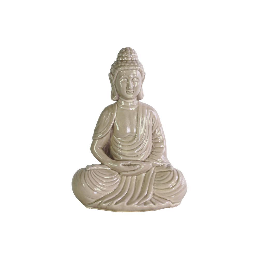 12.5 in. H Buddha Decorative Figurine in Gloss Finish