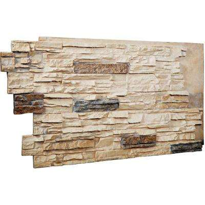 1-1/2 in. x 48 in. x 25 in. Sonora Desert Urethane Stacked Stone Wall Panel