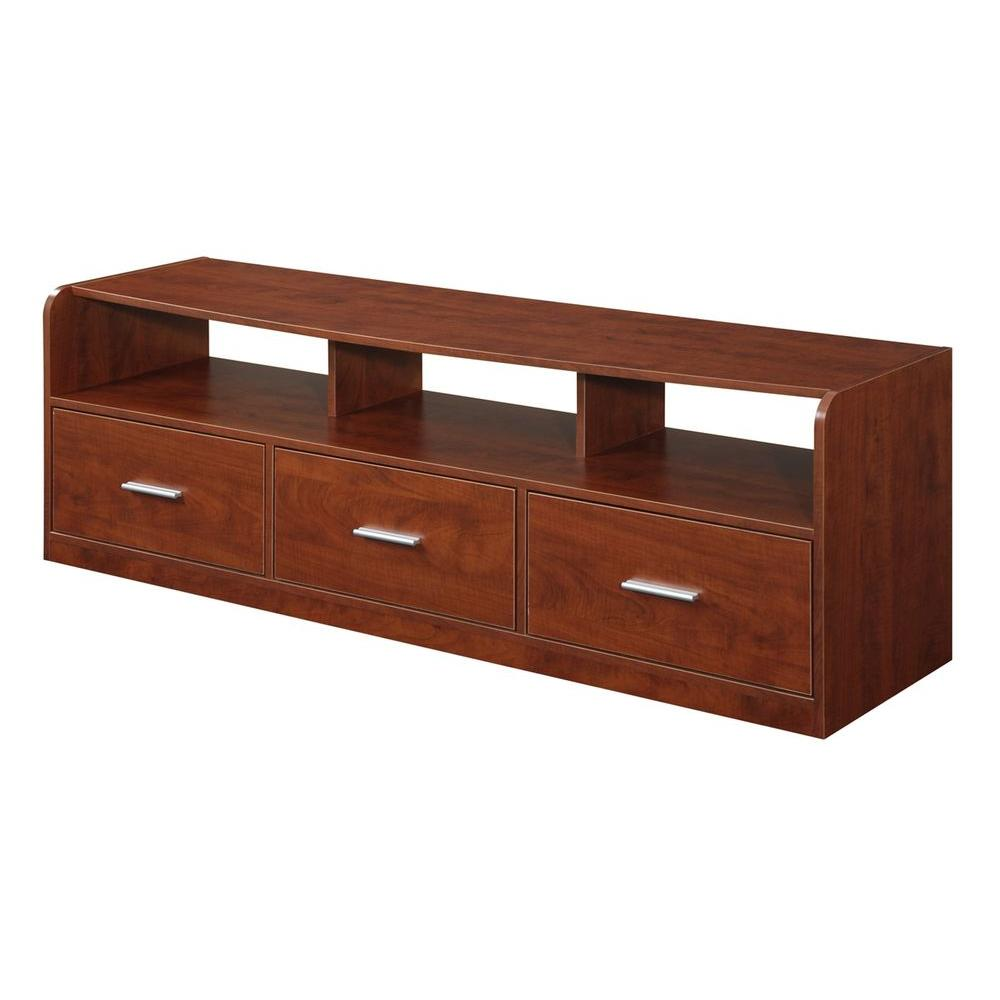 Designs2Go Tribeca Cherry Storage Entertainment Center