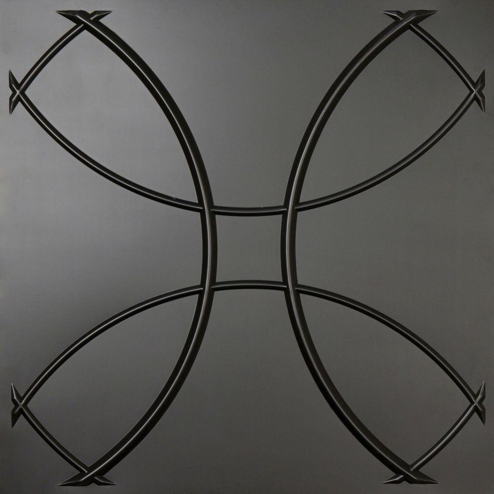 Ceilume Celestial Black Evaluation Sample, Not suitable for installation - 2 ft. x 2 ft. Lay-in or Glue-up Ceiling Panel