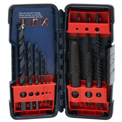Screw Extractor and Black Oxide Drill Bit Set (12-Piece)