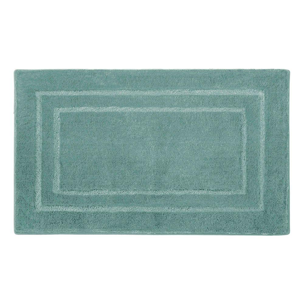 Pearl Double Border Lake Blue 20 in. x 32 in. Bath