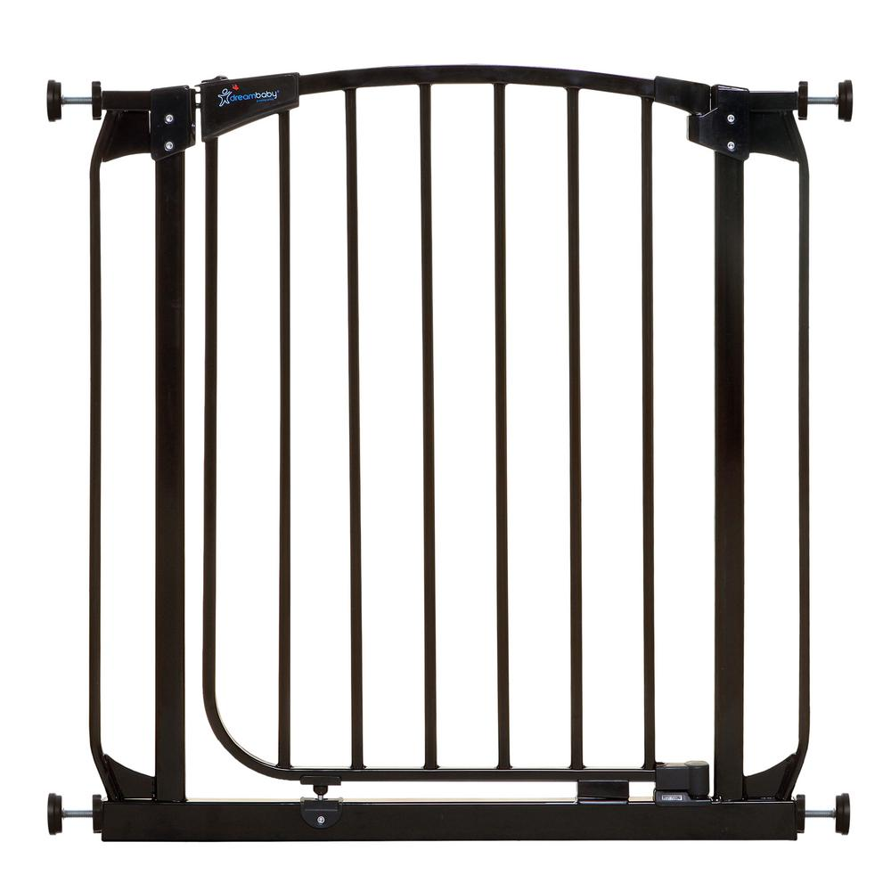 Chelsea 29.5 in. H Standard Height Auto-Close Security Gate in Black