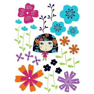 27 in. x 19 in. Flowerine Wall Decal