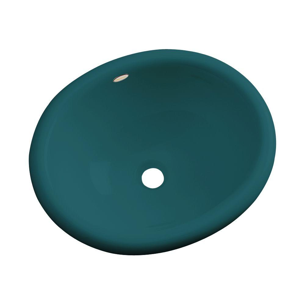 Madeira Drop-In Bathroom Sink in Teal