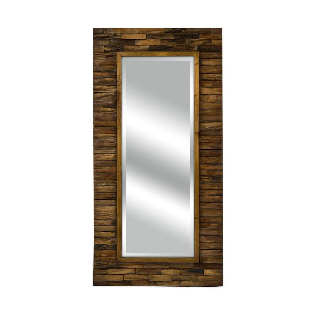 Home decorators collection dawson 48 in x 24 in wood framed mirror 1269700820 the home depot - Home decor wall mirrors collection ...