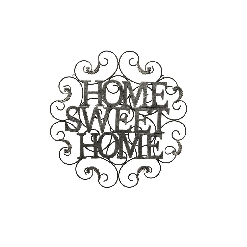 Three Hands Metal Sweet Home Wall Decor 15489 The Home Depot