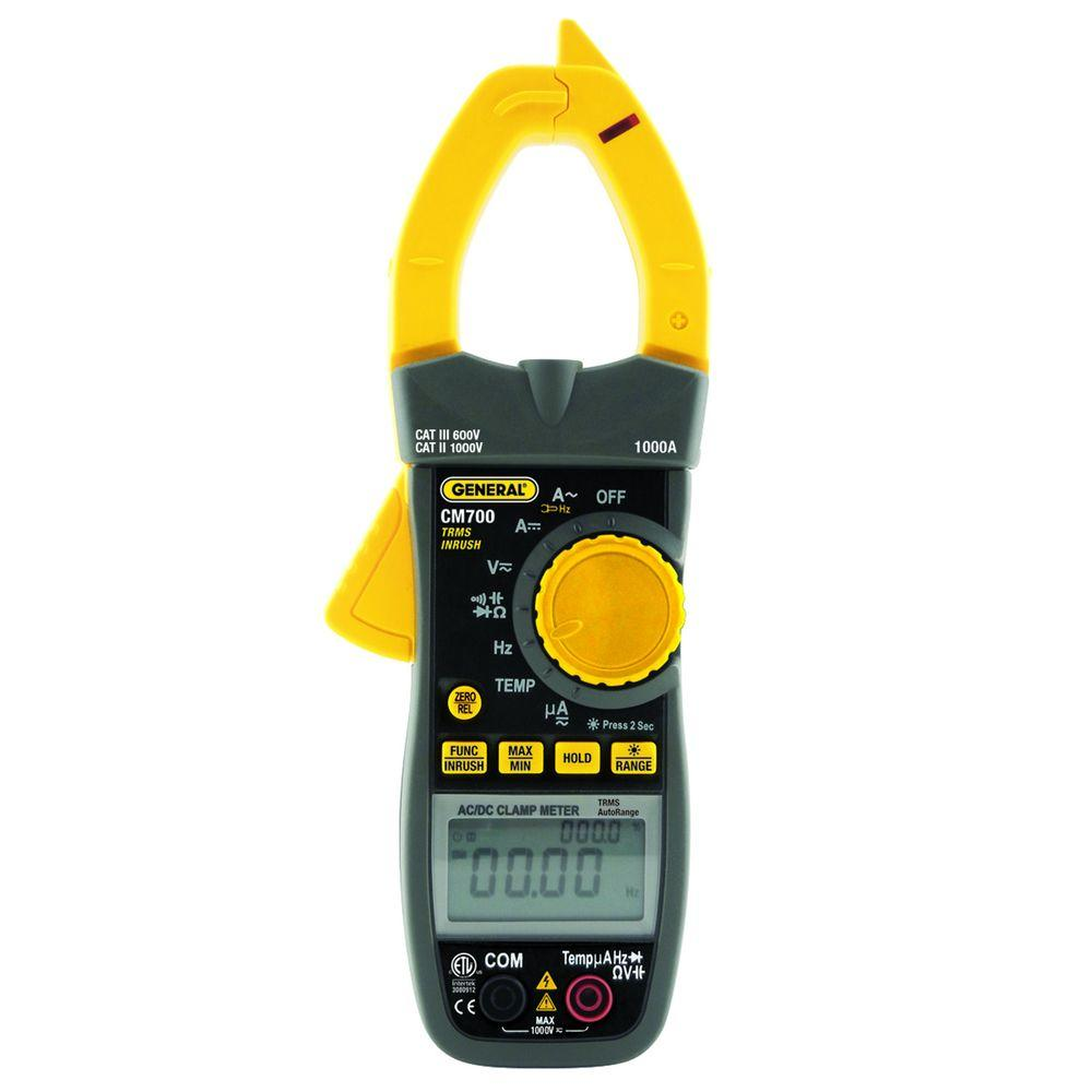 Gm Instruments Digital Clamp Meter : General tools heavy duty volt clamp meter with