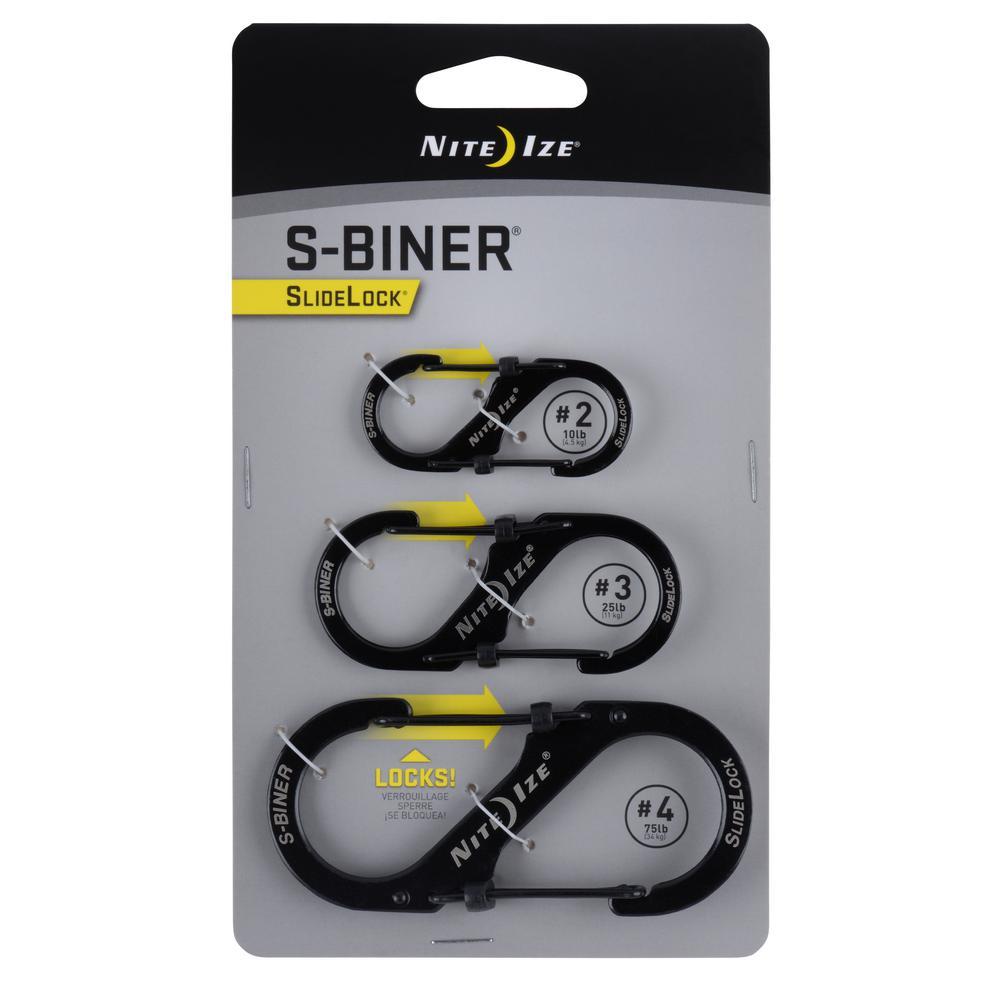 Nite Ize S-Biner SlideLock (3-Pack), Silver