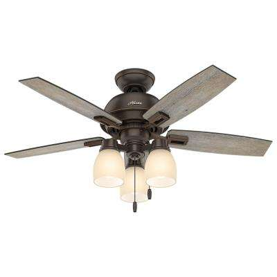 Donegan 44 in. LED 3-Light Indoor Onyx Bengal Bronze Ceiling Fan