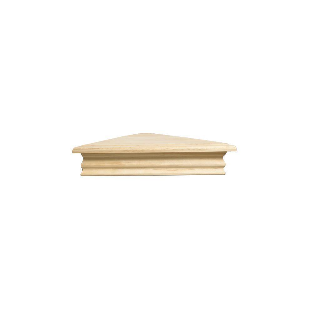 Knape & Vogt 8 in. x 17 in. Unfinished Corner Decorative Shelf Kit