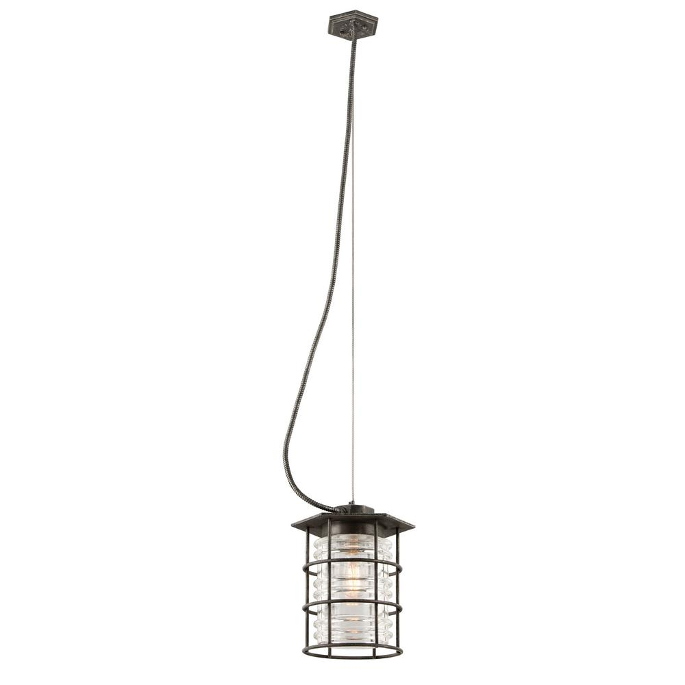 troy lighting brunswick 1 light aged pewter outdoor pendant f3797