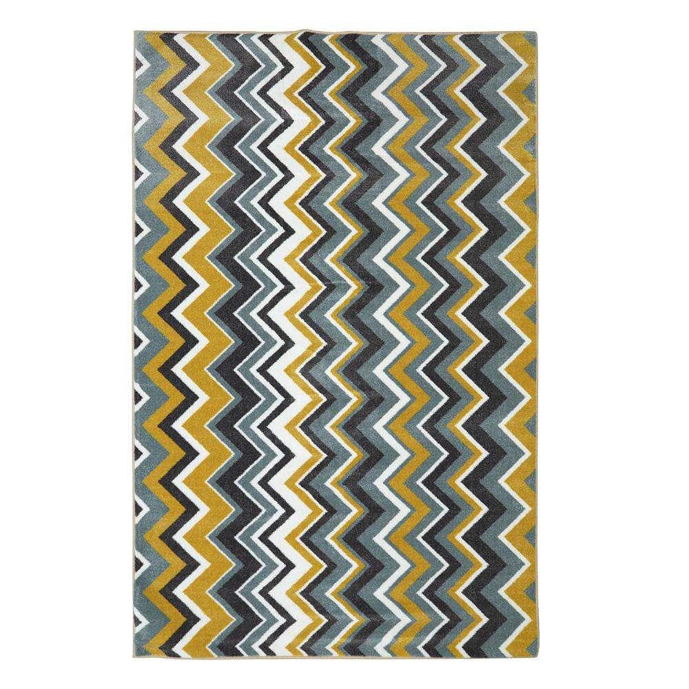 Ziggidy Yellow 7 ft. 6 in. x 10 ft. Area Rug