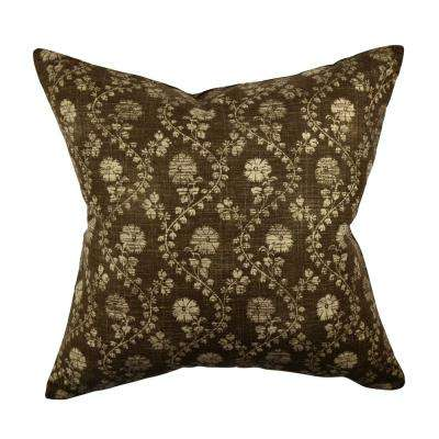 Winding Stem Floral Throw Pillow