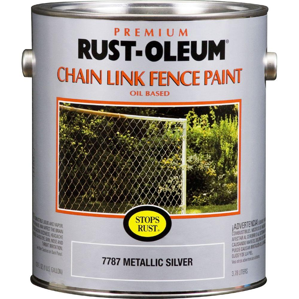 Rust-Oleum 1-gal. Silver Metallic Chain Link Fence Stops Rust Paint-DISCONTINUED